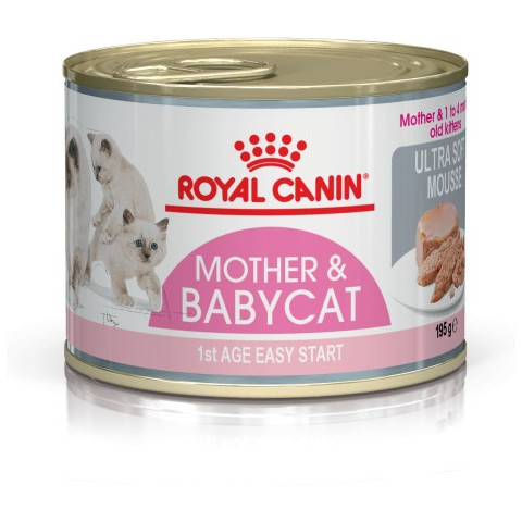 Royal Canin Mother And Babycat Ultra Soft Mousse Kitten Food 12x195g