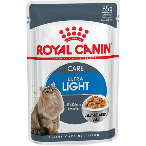 Royal Canin Ultra Light Cat Food In Jelly Pouches 12 X 85g