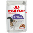 Royal Canin Sterilised Cat Food In Gravy Pouches 12 X 85g