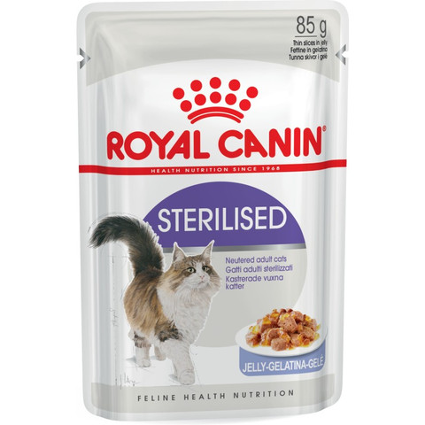 Royal Canin Sterilised Cat Food In Jelly Pouches 12 X 85g