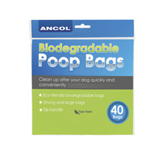 Ancol Biodegradable Dog Poo Bags 40 Pack To 12 X 40 Pack