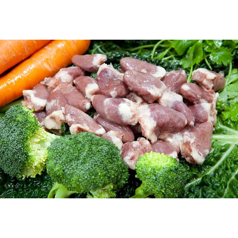 Benyfit Natural Chicken Hearts Frozen Raw Dog Chew 250g