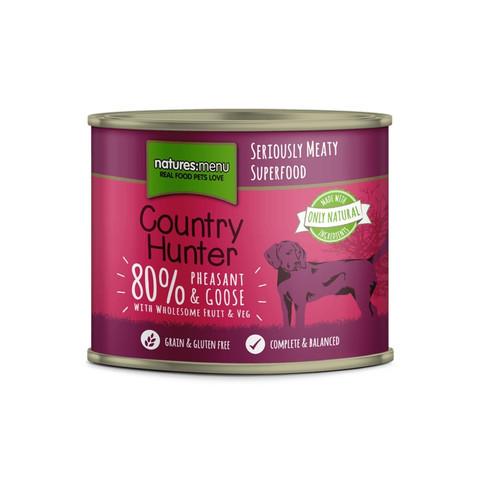 Natures Menu Country Hunter Pheasant & Goose Grain Free Dog Food Cans 6 X 600g