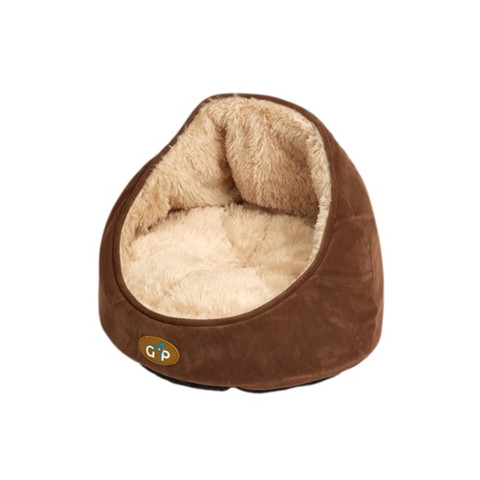 Gor Pets Nordic Brown Faux Fur Small Dog & Cat Bed 36x39x39cm