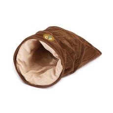 Gor Pets Nordic Brown Faux Fur Crinkle Cat Play/sleep Bag 28x28x46cm