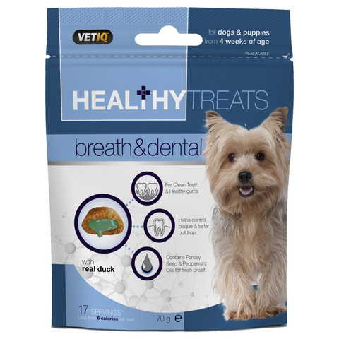 Mark And Chappell Vetiq Healthy Treats Breath & Dental For Dogs & Puppies 70g