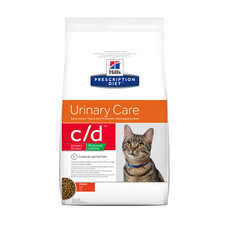 Hills Prescription Diet C/d Feline Urinary Stress Reduced Calorie Chicken Dry Food 1.5kg To 8kg