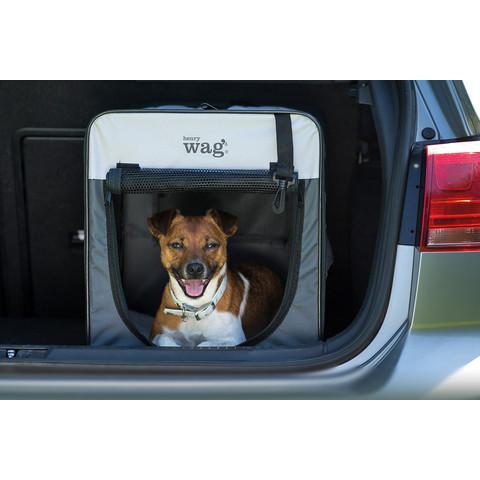 Henry Wag Folding Fabric Travel Dog Crate Medium