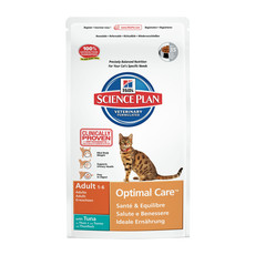 Hills Science Plan Adult Cat Optimal Care With Tuna Dry Food 2kg To 10kg