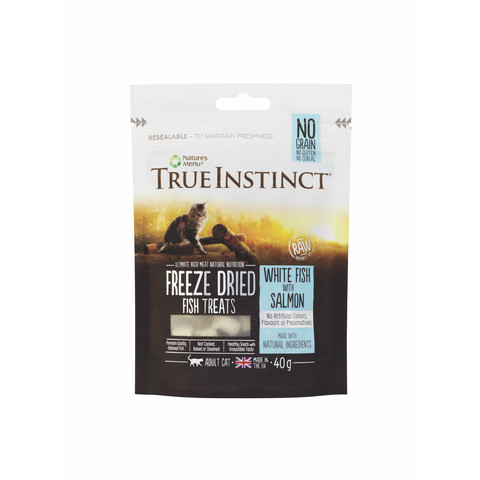 Natures Menu True Instinct Salmon And White Fish Freeze Dried Cat Treats 40g