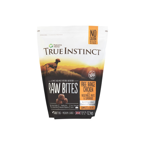 Natures Menu True Instinct Raw Bites Chicken Frozen Dog Food 1.2kg
