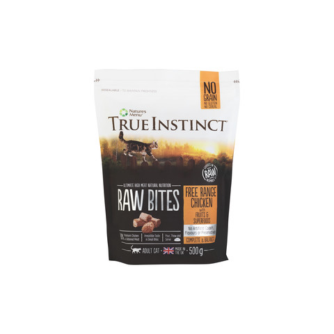 Natures Menu True Instinct Raw Bites Chicken Frozen Cat Food 500g