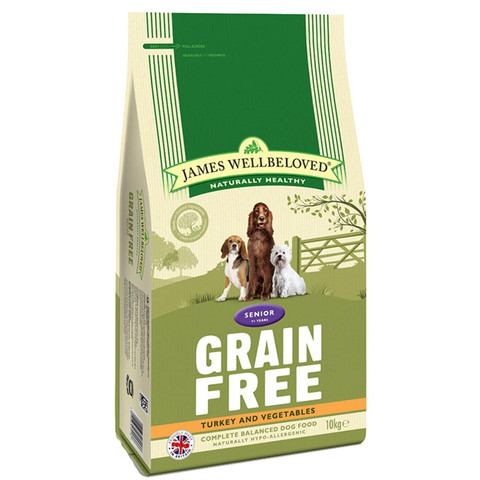 James Wellbeloved Senior Grain Free Turkey Dry Dog Food 1.5kg