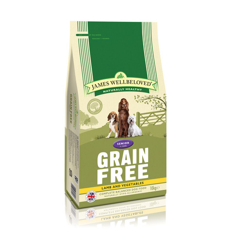 James Wellbeloved Senior Grain Free Lamb Dry Dog Food 1.5kg