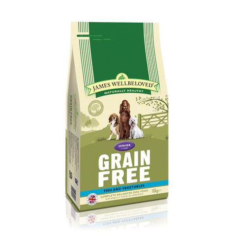 James Wellbeloved Senior Grain Free Fish Dry Dog Food 10kg