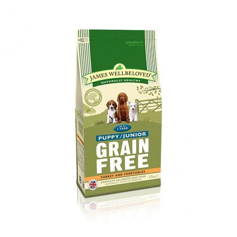 James Wellbeloved Puppy / Junior Grain Free Turkey Dry Dog Food 1.5kg