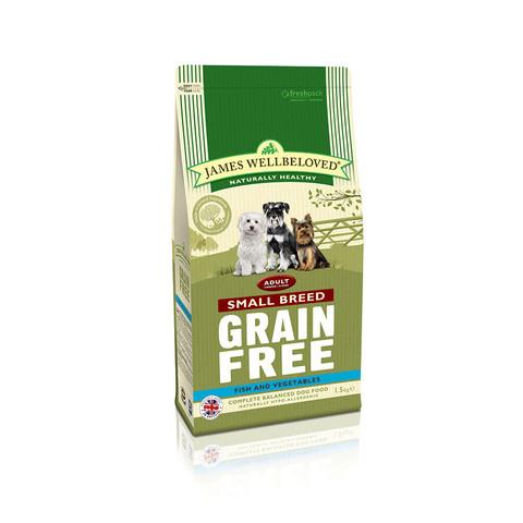 James Wellbeloved Adult Small Breed Grain Free Fish Dry Dog Food 1.5kg
