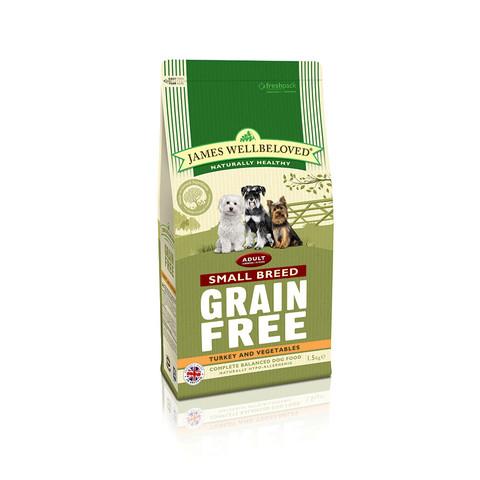 James Wellbeloved Adult Small Breed Grain Free Turkey Dry Dog Food 7.5kg