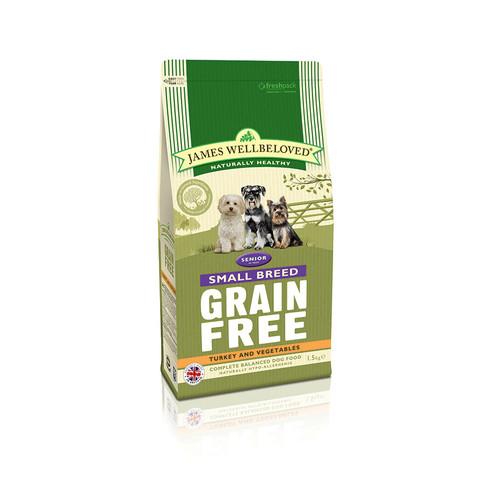 James Wellbeloved Senior Small Breed Grain Free Turkey Dry Dog Food 1.5kg