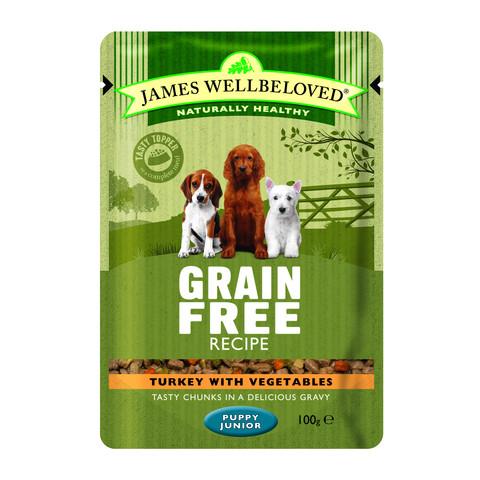 James Wellbeloved Grain Free Puppy Turkey Wet Food Pouch