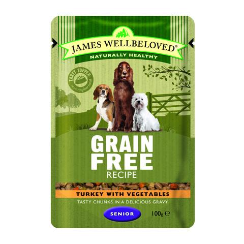 James Wellbeloved Grain Free Senior Turkey Wet Food Pouch