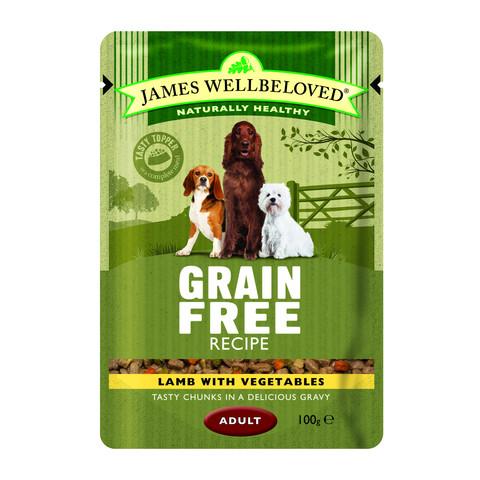 James Wellbeloved Grain Free Adult Lamb Wet Food Pouch