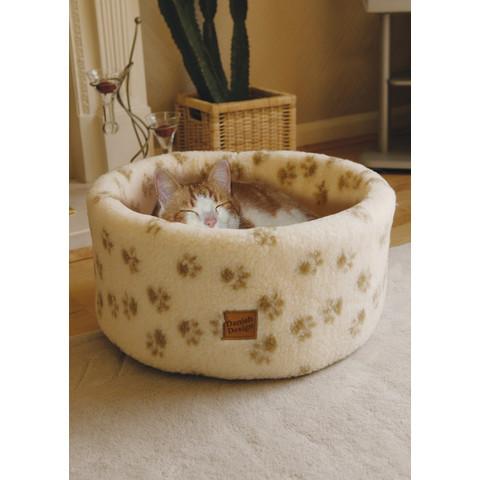 "Danish Design Cat Cosy Fleece Cream Bed 16""/42cm To 20""/50cm"