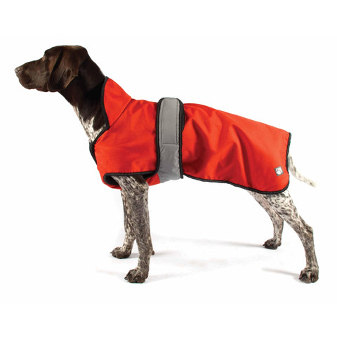 Danish Design 2 In 1 Four Seasons Orange Dog Coat 14in