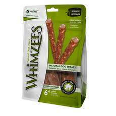 Whimzees Veggie Sausage 180mm Large Dental Dog Chew Treat Pack 7 Pack