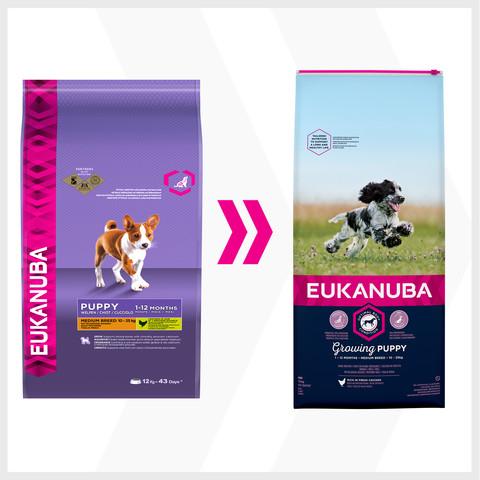 Eukanuba Medium Breed Puppy And Junior Dry Food 12kg