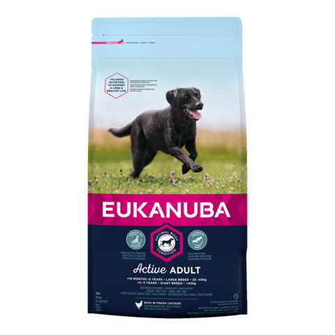 Eukanuba Active Adult Large Breed Chicken Dog Food 2kg