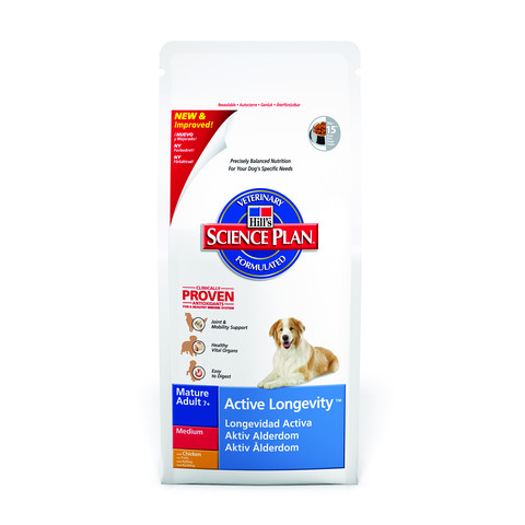 Hills Science Plan Canine Mature Adult 7+ Active Longevity Medium With Chicken 3kg To 2 X 12kg