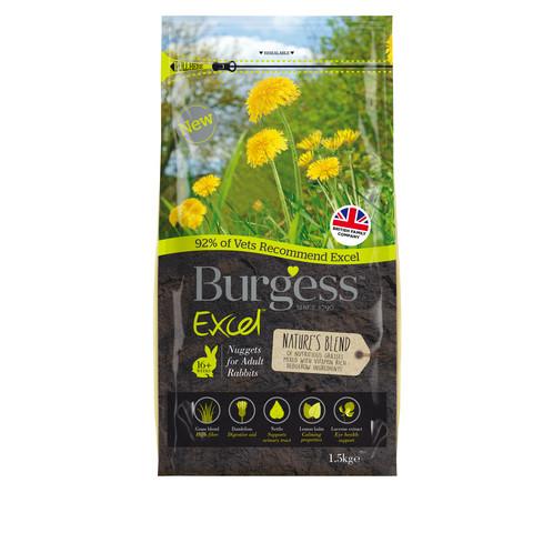 Burgess Excel Adult Rabbit Nature's Blend Nuggets 1.5kg