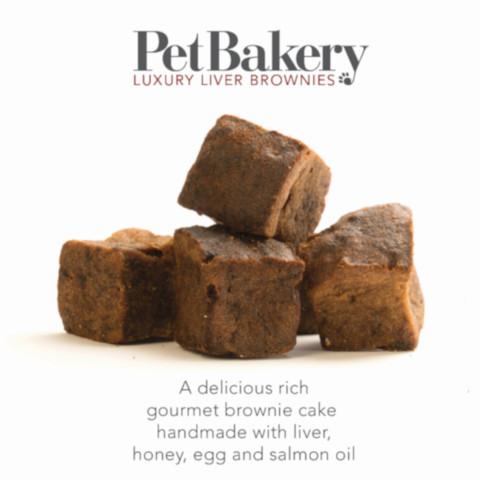 Pet Bakery Luxury Liver Brownie Dog Treats 190g