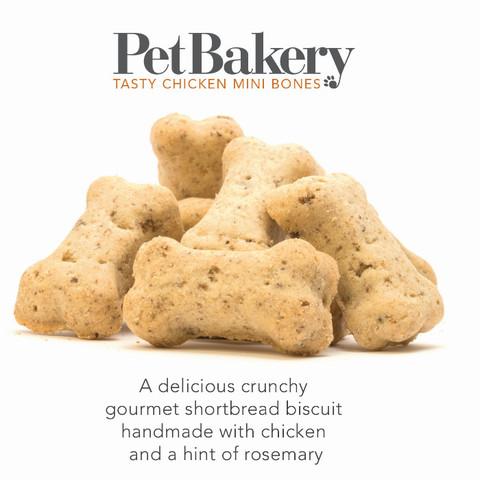 Pet Bakery Tasty Chicken Mini Bones Dog Treats 190g