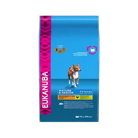 Eukanuba Mature And Senior Medium Breed Dry Dog Food 12kg