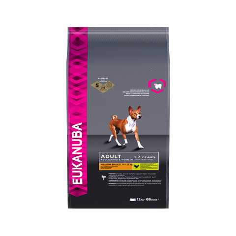 Eukanuba Adult Medium Breed Dry Dog Food 12kg