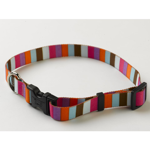 Yellow Dog Design Multi Stripe Adjustable Dog Collar X Small To Large