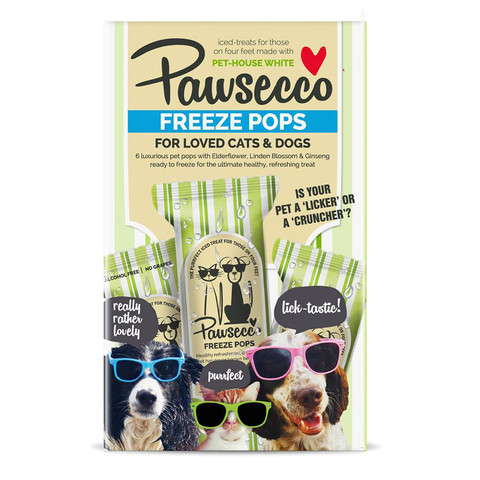 Woof & Brew Pawsecco Freeze Pops For Cats & Dogs 6 Pack