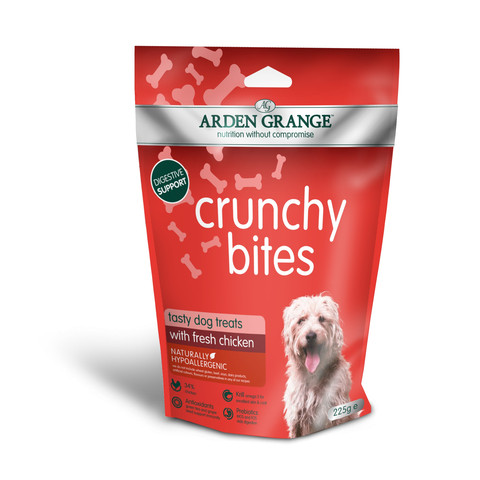 Arden Grange Chicken Crunchy Bites Dog Treats 225g