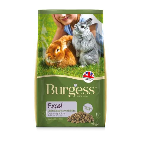 Burgess Excel Light Rabbit Nuggets With Mint 4kg