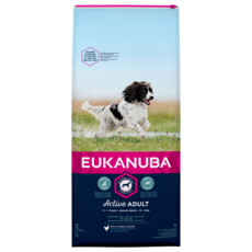 Eukanuba Active Adult Medium Breed Chicken Dog Food 12kg