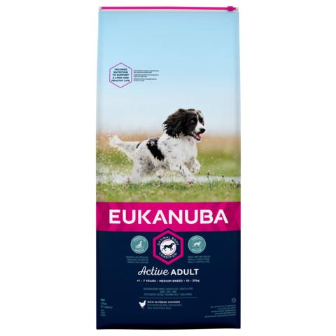 Eukanuba Active Adult Medium Breed Chicken Dog Food 12kg