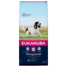 Eukanuba Thriving Mature Medium Breed Chicken Dog Food 12kg