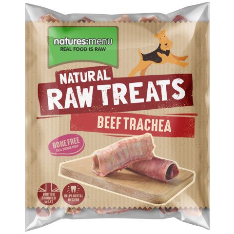 Natures Menu Frozen Beef Trachea Raw Chews For Dogs 500g