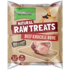 Natures Menu Frozen Beef Knuckle Bone Raw Chews For Dogs 500g
