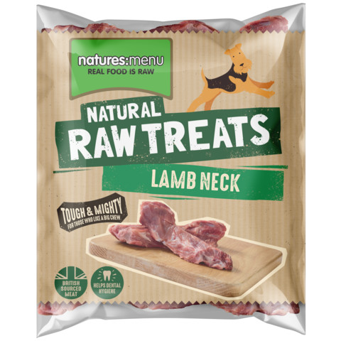 Natures Menu Frozen Lamb Neck Raw Chews For Dogs
