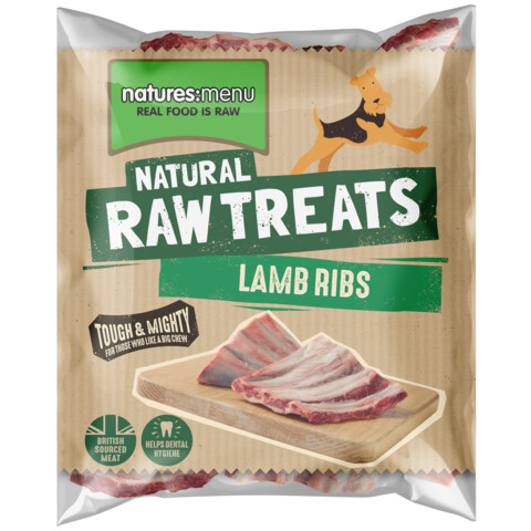 Natures Menu Frozen Lamb Ribs Raw Chews For Dogs