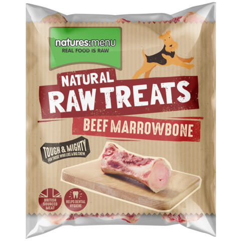 Natures Menu Frozen Marrowbone Raw Chews For Dogs 500g