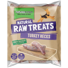 Natures Menu Frozen Turkey Necks Raw Chews For Dogs 500g